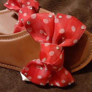 BAMBOO Shoes - Bamboo red bow slides